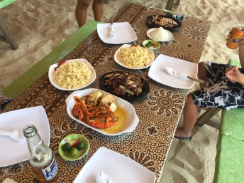 Our full spread at Puka Beach